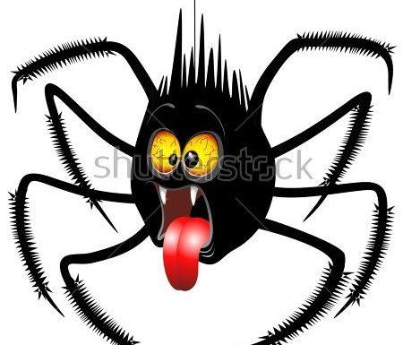 Halloween Spider Cartoon Vector Illustration Copyright©BluedarkArt