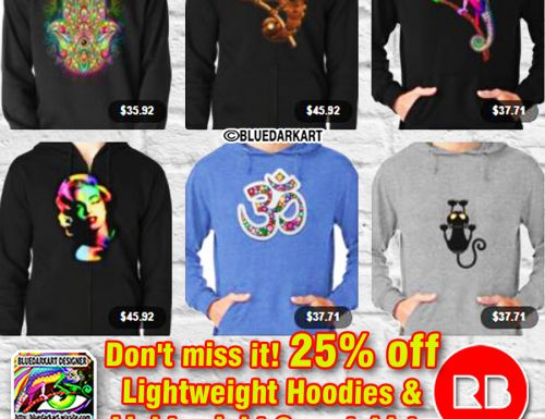 25% off Lightweight Hoodies & Sweatshirts!