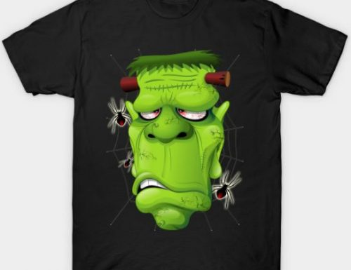 Frankenstein Cartoon Tshirts by BluedarkArt