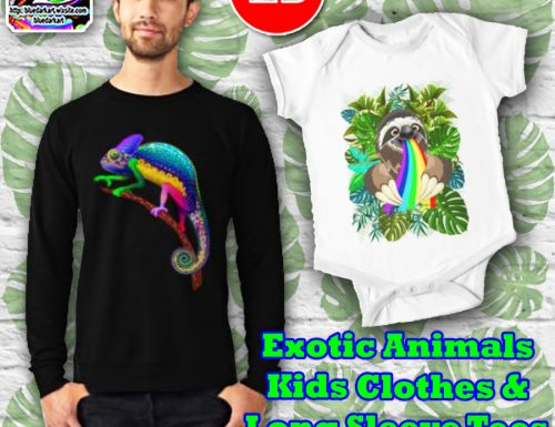 Exotic Animals Trending Designs on Kids Clothes and Tees