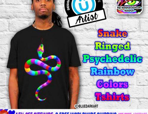 Snake Rainbow Colors Tshirt SOLD! Design by BluedarkArt