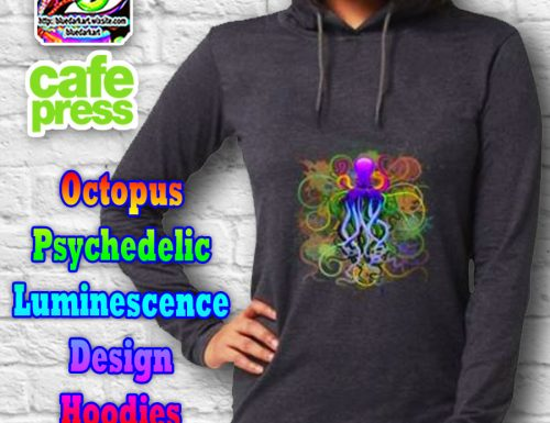 Octopus Psychedelic Luminescence hooded Shirts SOLD!