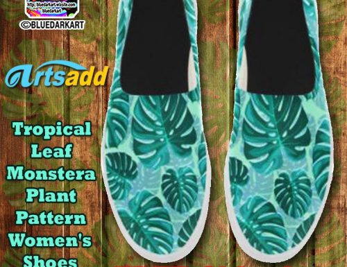SOLD! Tropical Leaf Monstera Women's Shoes – By BluedarkArt – ArtsAdd Shop