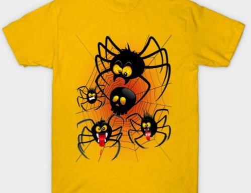 NEW! Halloween Spiders Cartoon TShirt | Design by BluedarkArt – Teepublic