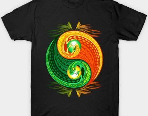NEW Yin Yang Gecko Design on Teepublic Tees! Design © BluedarkArt