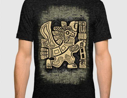 SOLD! Aztec Eagle Warrior Tshirt by BluedarkArt | Society6