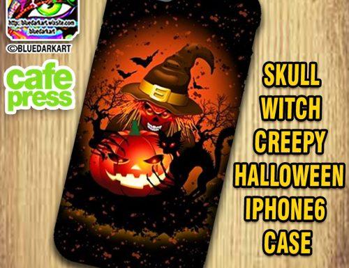 SOLD! Skull Witch Creepy Halloween iPhone6 Case – Design by Bluedarkart