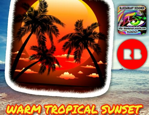 Warm Tropical Sunset Stickers – Design by BluedarkArt