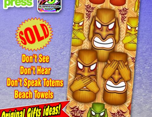 SOLD! Don't See Don't Hear Don't Speak Totems – Beach Towels! Thank You!❤