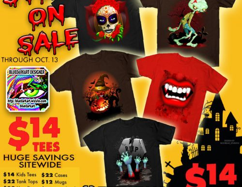 All Tees are just $14! on BluedarkArt's Teepublic Shop!