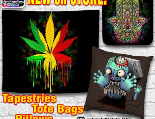 NEW on Store! Tapestries, Tote Bags, Pillows!