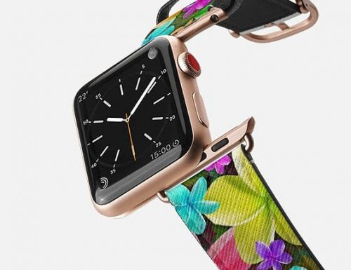 SOLD! Plumeria Exotic Flowers Dream Apple Watch Band | Design by BluedarkArt | Casetify