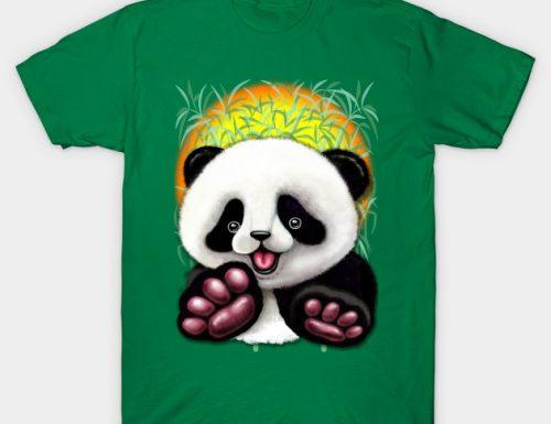 NEW! Panda Baby Bear Cute and Happy – TShirts – Design by BluedarkArt | TeePublic Shop