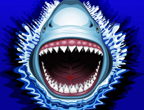 SOLD! Shark Jaws Attack Comforters | Design by BluedarkArt