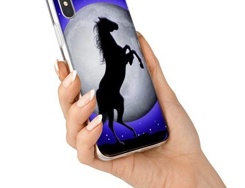 Wild Horse on Blue Moonlight for Smartphones |Design by BluedarkArt