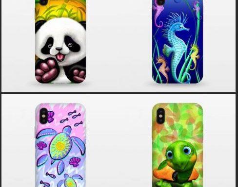 Colorful Summer Designs on Smartphone Cases | By BluedarkArt