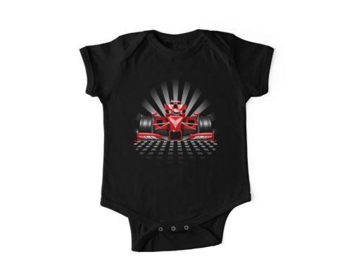 "SOLD! ""Formula 1 Red Race Car"" Kids Clothes – Design by BluedarkArt"