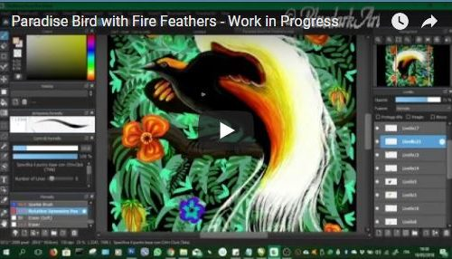 ❀ Paradise Bird with Fire Feathers ❀ Work in Progress ❀ BluedarkArt Designer ❀