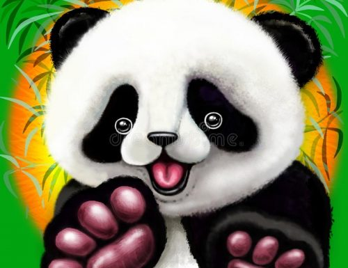NEW Panda Baby Bear Cute And Happy – illustration © BluedarkArt