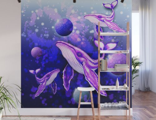 Make Your Home Magical ❇ Ultraviolet Animal Spirits Wall Murals ❇