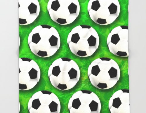 SOLD! Soccer Ball Football Pattern Throw Blankets