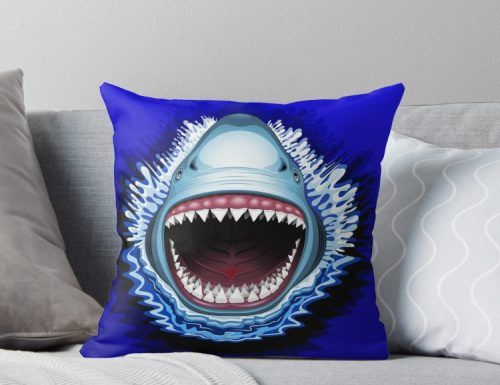 "SOLD! ""Shark Jaws Attack"" Throw Pillows"