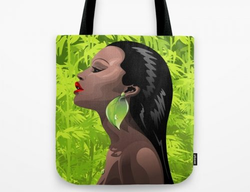 SOLD ♥ Woman African Beauty and Bamboo Tote Bags ♥