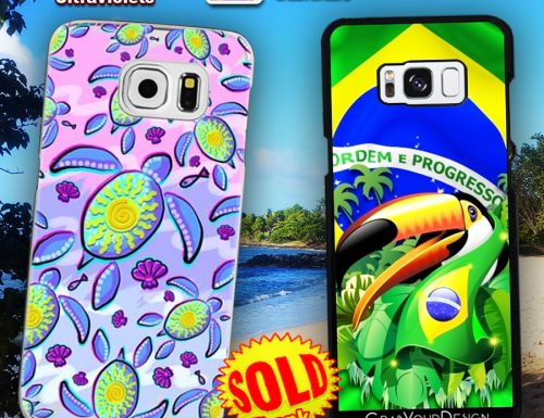 Phone Cases SOLD! Thank You! Seaturtle Ultraviolet and Toucan on Brazil Flag