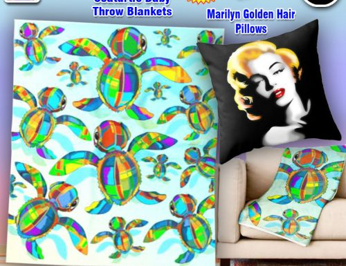 SOLD! Thank You! Throw Blankets and Pillows! Designed by BluedarkArt