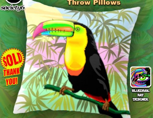 SOLD! Toucan Wild Bird from Amazon Rainforest Throw Pillows – Thank You!