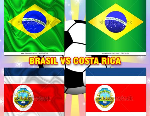 Brazil Brasil VS CostaRica – Vector & Digital Silk Flags Designed by BluedarkArt