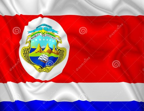 COSTA RICA Flag – Bandera de Costa Rica – Vector and Digital Art