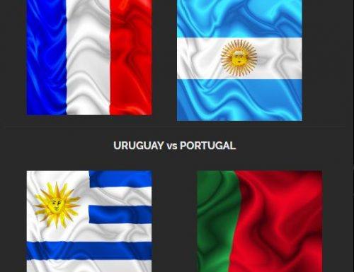 FLAGS – France, Argentina, Uruguay, Portugal – Designed by BluedarkArt