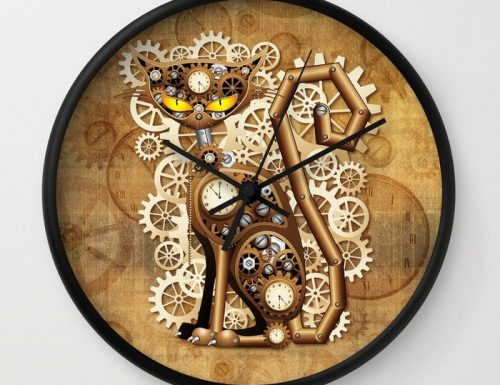 SOLD! Thank You! Frog Shape and Steampunk Cat Wall Clocks