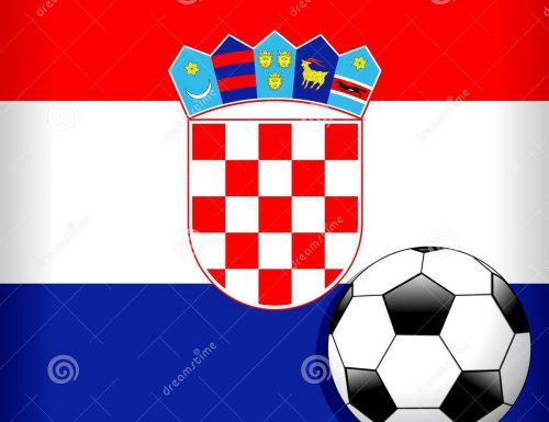 Croatia Flag With Soccer Ball Football WorldCup – Vector Illustration © BluedarkArt