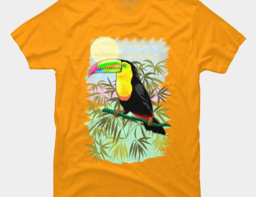 SOLD! Toucan Wild Bird From Amazon Rainforest – TShirts By BluedarkArt