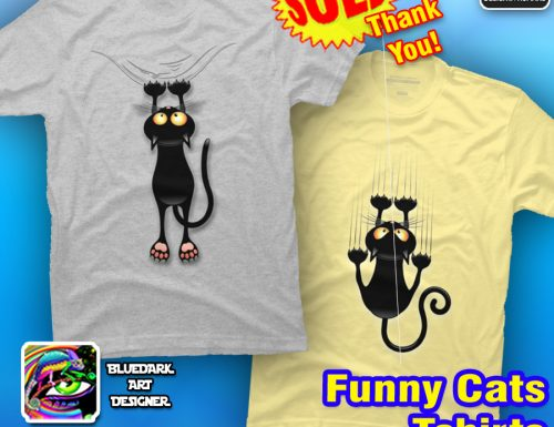 Humorous Cats Tshirts SOLD! Thank You! Gifts for Cat Lovers!