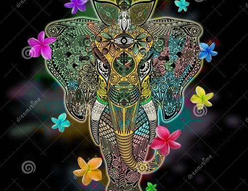 Elephant Zentangle Doodle Art – License SOLD! Thank You!