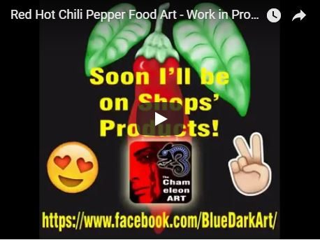 Red Hot Chilli Pepper Food Art – Work in Progress… Created on SmartPhone