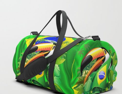 SOLD! Toco Toucan with Brazil Flag – Design by BluedarkArt