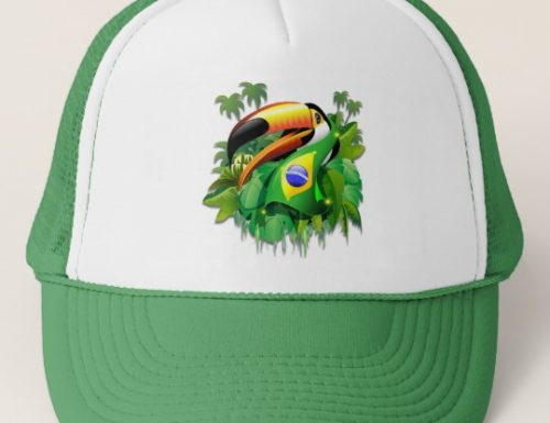 SOLD! Thank You! Toco Toucan with Brazil Flag hats – Design by BluedarkArt