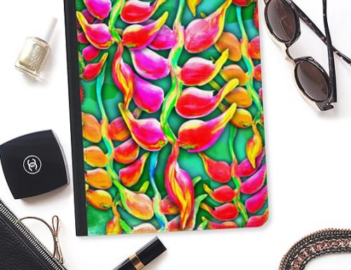 SOLD! Exotic Flowers Heliconia Pendula Bright Red iPad Pro Case