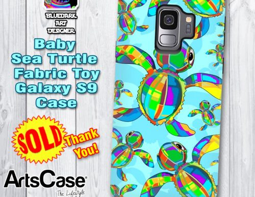 SOLD! Baby SeaTurtle Fabric Toy GalaxyS9 Case | Thank You!