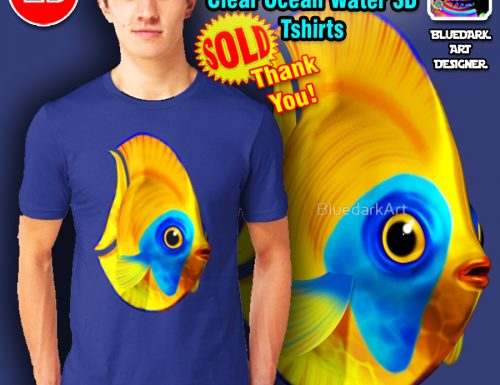 SOLD! Thank You! Tropical Fish 3d Unisex Tshirts – by BluedarkArt