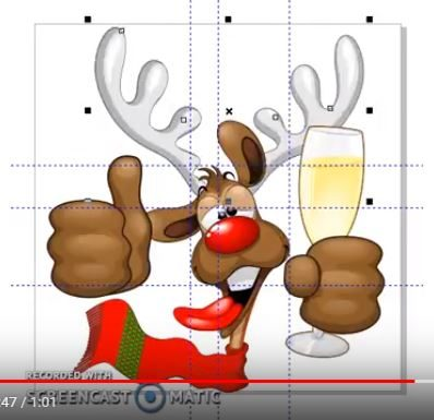 Work in Progress : Reindeer Drunk Funny Character Vector Illustration © BluedarkArt