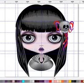 "WIP of my New Little ""Doll Creepy Halloween Cute Face"" 🎃 Vector Illustration"