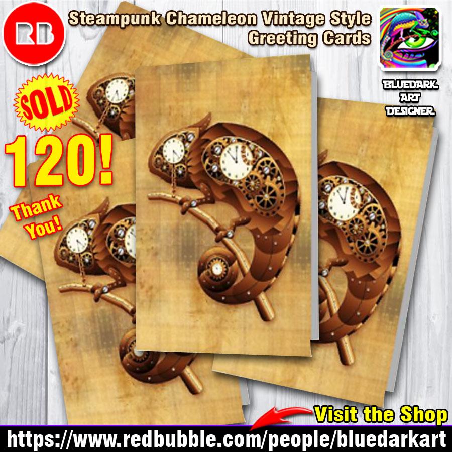 Steampunk The Chameleon Art Bluedarkart Designer