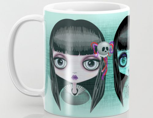 "NEW Design on Shop! ""Zombie Doll – The Dark Side"" – Design by BluedarkArt TheChameleonArt"