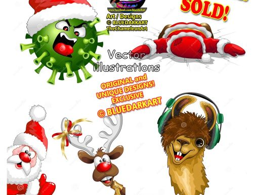 Christmas Vector Illustrations © BluedarkArt TheChameleonArt