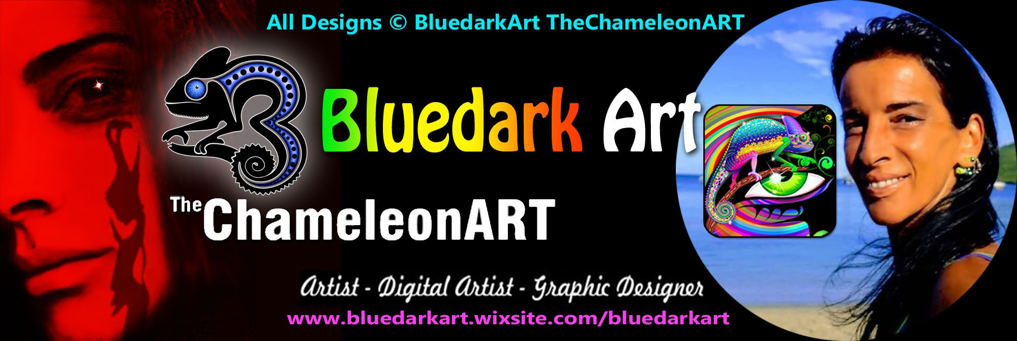 The Chameleon ART BluedarkArt Designer